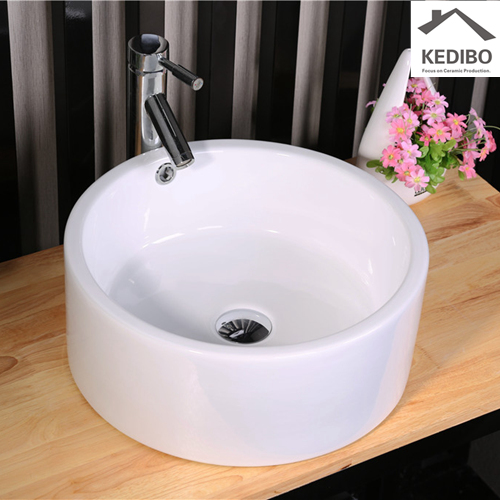 powder room's transformation a creative solution  -  commercial wall hung sink