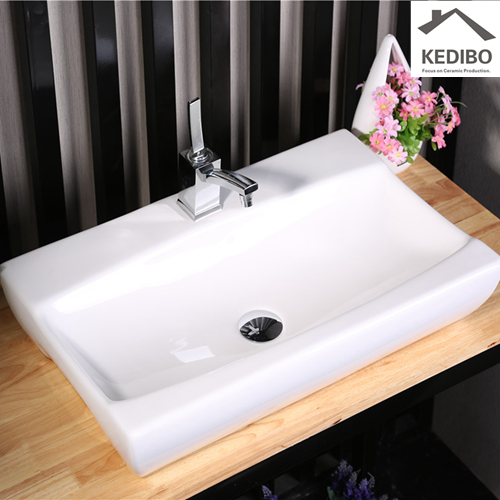 -  bathroom sink attached to wall