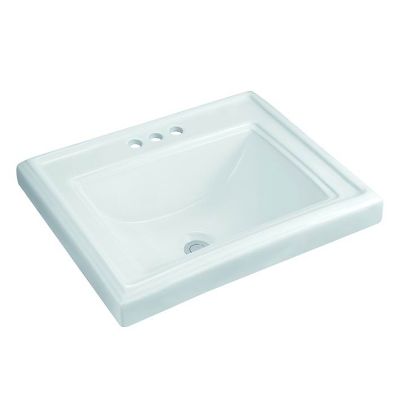 undermount sink size to allow the faucet to fit behind  -  24 inch wall mount sink